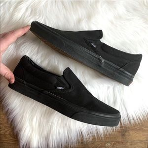 -black slip on vans